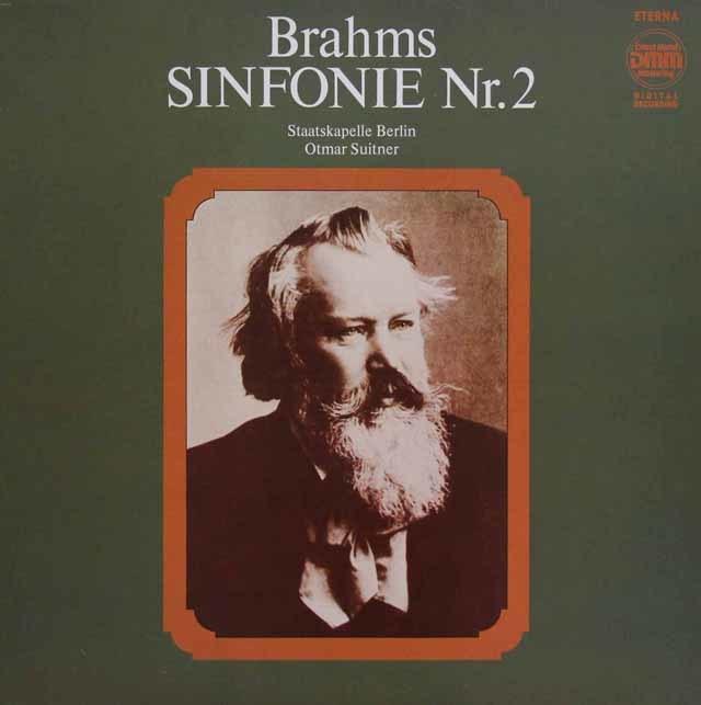 スイトナーのブラームス/交響曲第2番 独ETERNA 3140 LP レコード