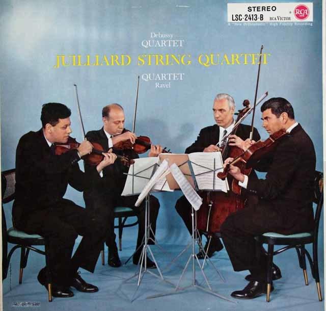 ジュリアード四重奏団のドビュッシー&ラヴェル/弦楽四重奏曲集 独RCA 3140 LP レコード