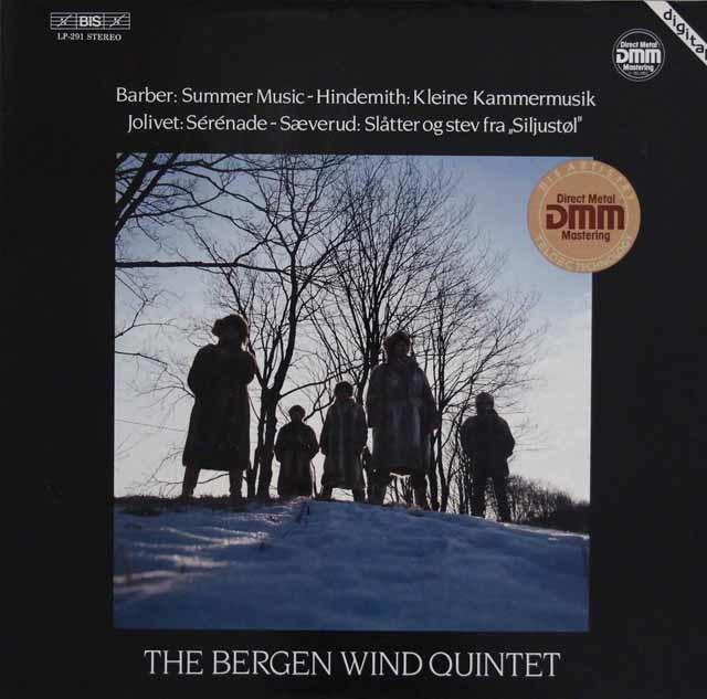 ベルゲン木管五重奏団のバーバー/「夏の音楽」ほか 独BIS 3140 LP レコード