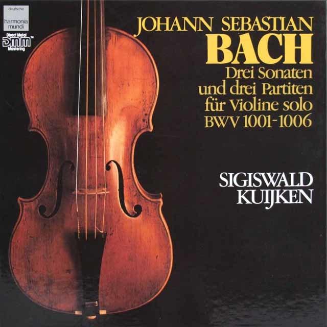 クイケンのバッハ/無伴奏ヴァイオリンのためのソナタ&パルティータ全曲 独HM 3140 LP レコード