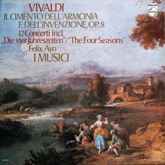 アーヨ&イ・ムジチのヴィヴァルディ/12の協奏曲集「和声と創意の試み」全曲(「四季」を含む) 蘭PHILIPS 3140 LP レコード
