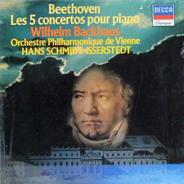 【未開封】 バックハウス&イッセルシュテットのベートーヴェン/ピアノ協奏曲全集 仏DECCA 3140 LP レコード