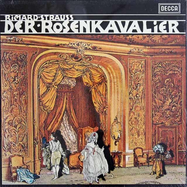 【未開封】 ショルティのR.シュトラウス/「ばらの騎士」全曲 英DECCA 3140 LP レコード