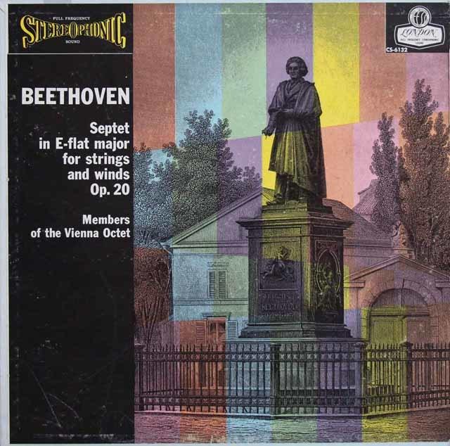 【ブルー・バック・ジャケット】ウィーン・オクテットのベートーヴェン/七重奏曲 英LONDON 3141 LP レコード
