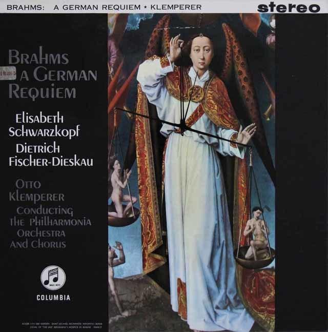 【オリジナル盤】クレンペラーのブラームス/「ドイツ・レクイエム」  英Columbia 3141 LP レコード