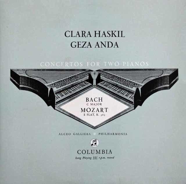 【オリジナル盤】ハスキル&アンダのバッハ&モーツァルト/2台のピアノのための協奏曲集 英Columbia 3141 LP レコード