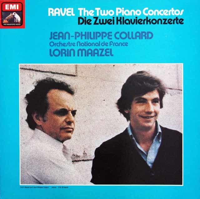 【オリジナル盤】コラール&マゼールのラヴェル/ピアノ協奏曲集 英EMI 3141 LP レコード