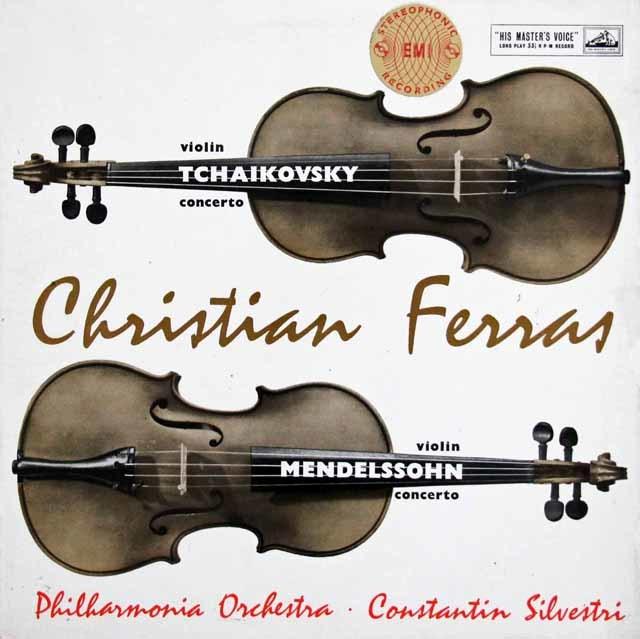 【オリジナル盤】フェラス&シルヴェストリのメンデルスゾーン、チャイコフスキー/ヴァイオリン協奏曲 英EMI(HMV) 3141 LP レコード