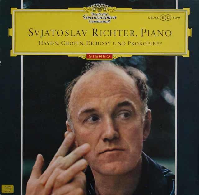 【赤ステレオ/オリジナル盤】リヒテル/ピアノ・リサイタル 独DGG 3141 LP レコード