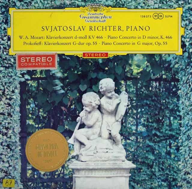 【赤ステレオ/オリジナル盤】リヒテルのモーツァルト&プロコフィエフ/ピアノ協奏曲集 独DGG 3141 LP レコード