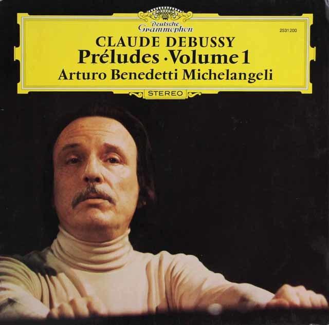 ミケランジェリのドビュッシー/「前奏曲」(第1集) 独DGG 3141 LP レコード