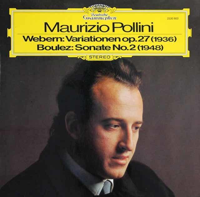 ポリーニのヴェーベルン&ブーレーズ/ピアノ作品集  独DGG 3141 LP レコード