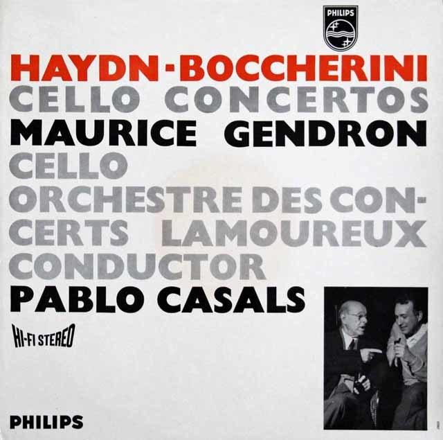 【オリジナル盤】カザルス&ジャンドロンのハイドン&ボッケリーニ/チェロ協奏曲集 蘭PHILIPS 3141 LP レコード