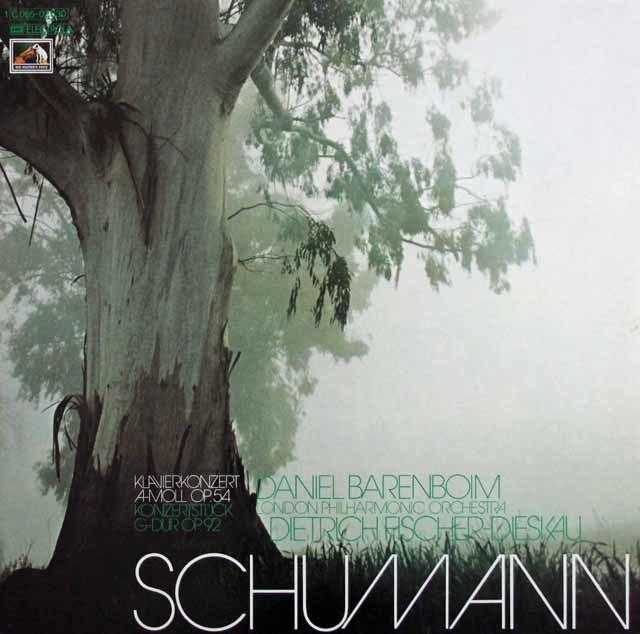 バレンボイム & F=ディースカウのシューマン/ピアノ協奏曲ほか 独EMI 3141 LP レコード