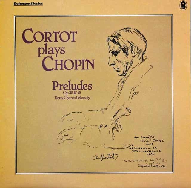 コルトーのショパン/前奏曲集ほか 英EMI 3141 LP レコード