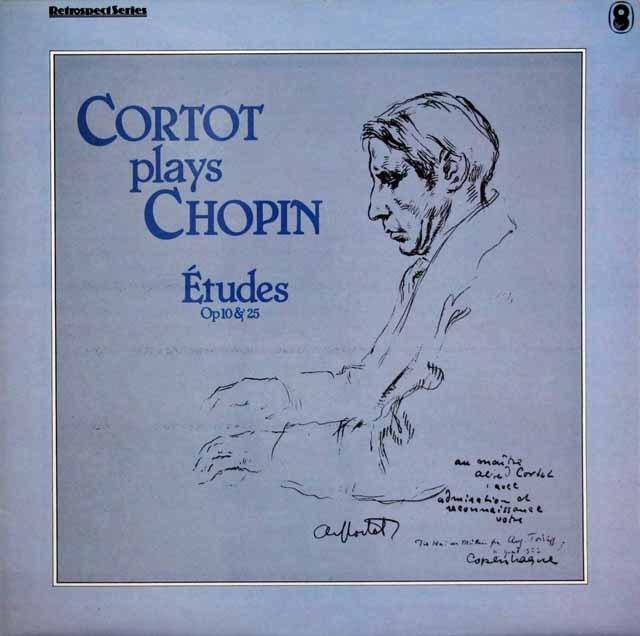 コルトーのショパン/練習曲集 英EMI 3141 LP レコード