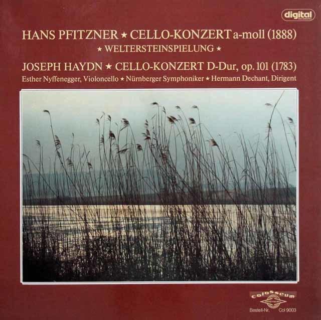 ニッフェネッガーのプフィッツナー&ハイドン/チェロ協奏曲集 独colosseum 3141 LP レコード