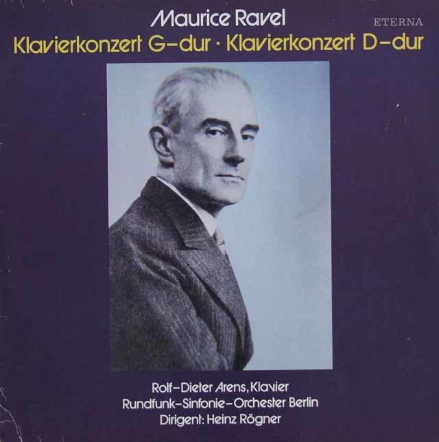 アレンス&レーグナーのラヴェル/ピアノ協奏曲集 独ETERNA 3141 LP レコード