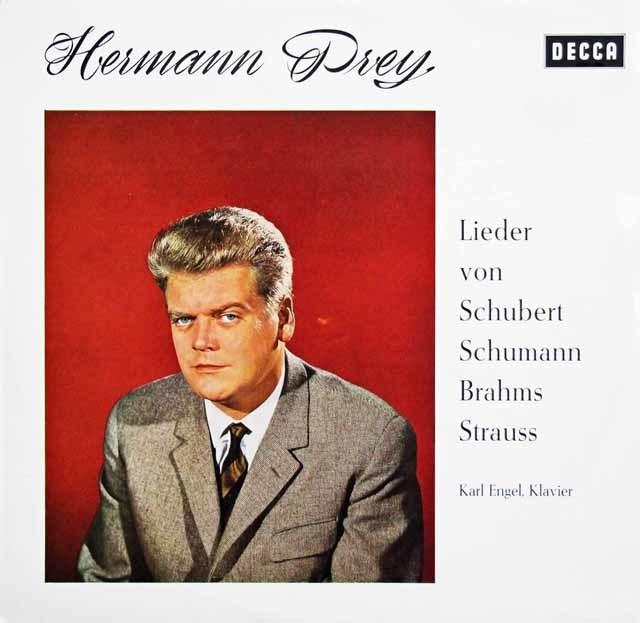 プライのシューベルト、シューマン、ブラームス、R.シュトラウス/歌曲集 独DECCA 3141 LP レコード