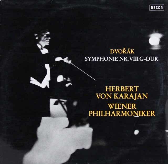 カラヤンのドヴォルザーク/交響曲第8番 独DECCA 3141 LP レコード