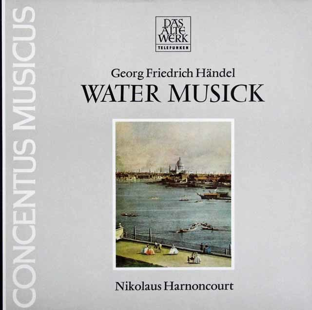アーノンクールのヘンデル/「水上の音楽」 独TELEFUNKEN 3141 LP レコード
