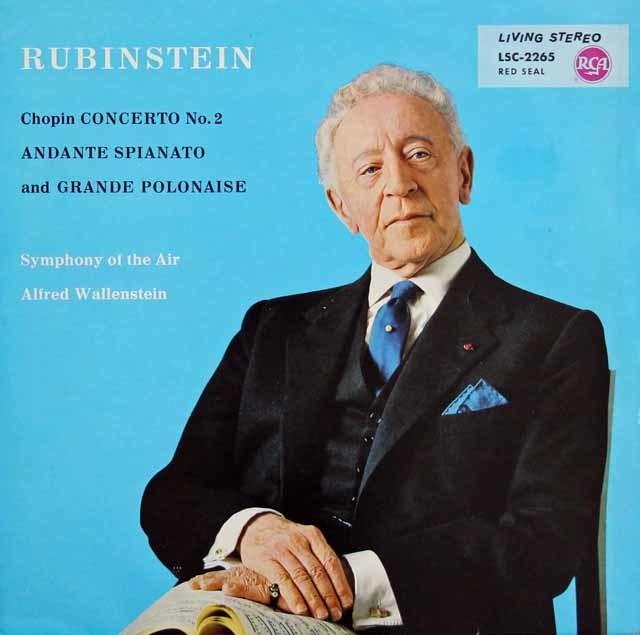 ルービンシュタインのショパン/ピアノ協奏曲第2番 独RCA 3141 LP レコード