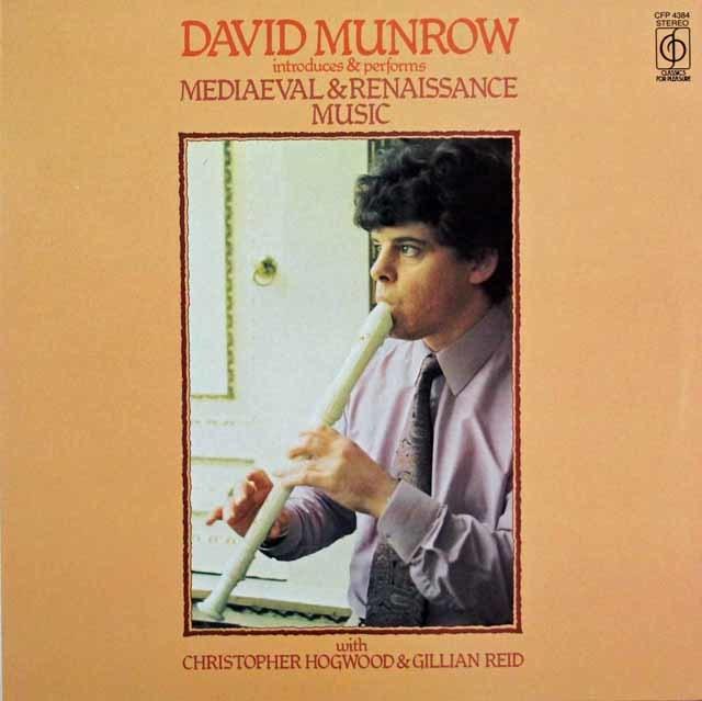 マンロウ & ホグウッドらの「中世、ルネッサンスの音楽」 英CFO 3141 LP レコード