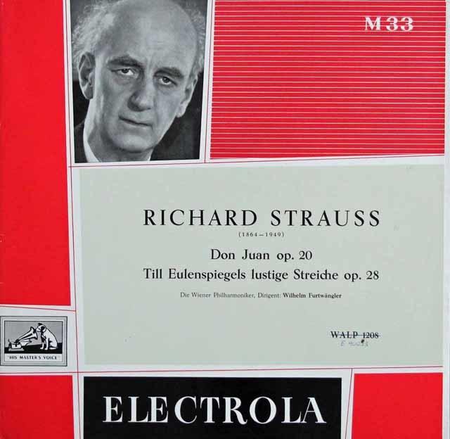 【独最初期盤】フルトヴェングラーのR.シュトラウス/「ドン・ファン」ほか 英EMI 3141 LP レコード