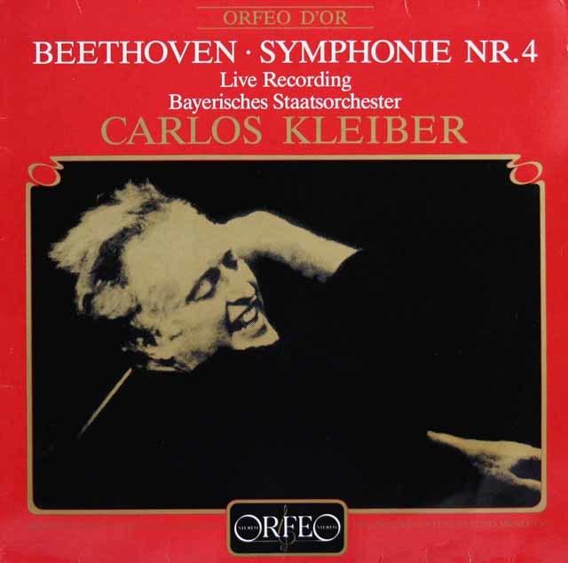 クライバーのベートーヴェン/交響曲第4番 独ORFEO 3141 LP レコード