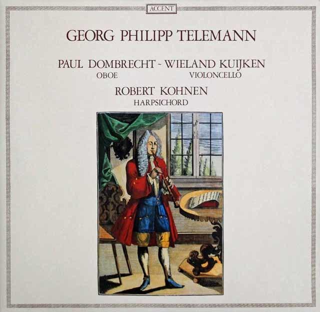 ドンブレヒト、クイケン、コーエンのテレマン/組曲 ト短調ほか ベルギーACCENT 3141 LP レコード