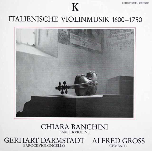 バンチーニらの1600年~1750年のイタリア・ヴァイオリン音楽集 独K(EOW) 3141 LP レコード