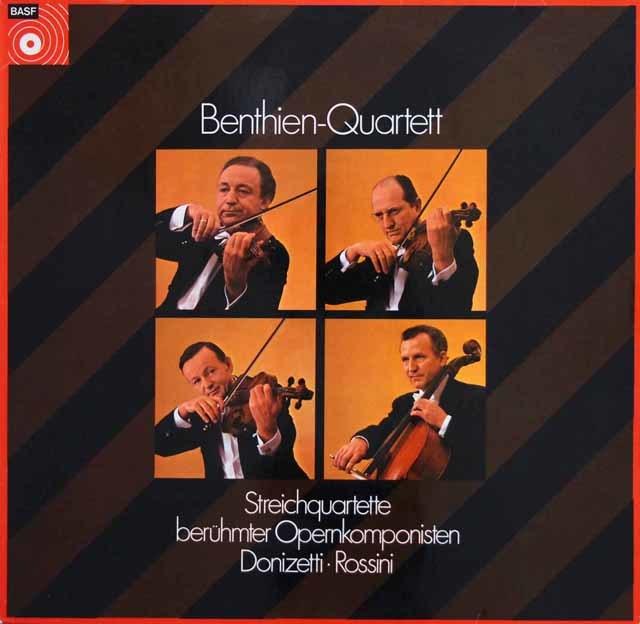 ベンティーン四重奏団のドニゼッティ & ロッシーニ/弦楽四重奏曲集 独BASF 3141 LP レコード