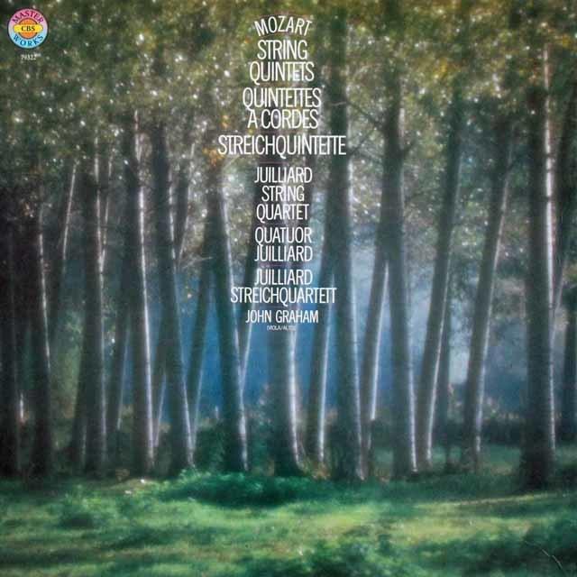 ジュリアード四重奏団&グラハムのモーツァルト/弦楽五重奏曲全集 独CBS 3141 LP レコード