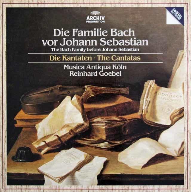 ゲーベル&ムジカ・アンティクヮ・ケルンの「ヨハン・セバスチャン以前のバッハ・ファミリー」 独ARCHIV 3141 LP レコード