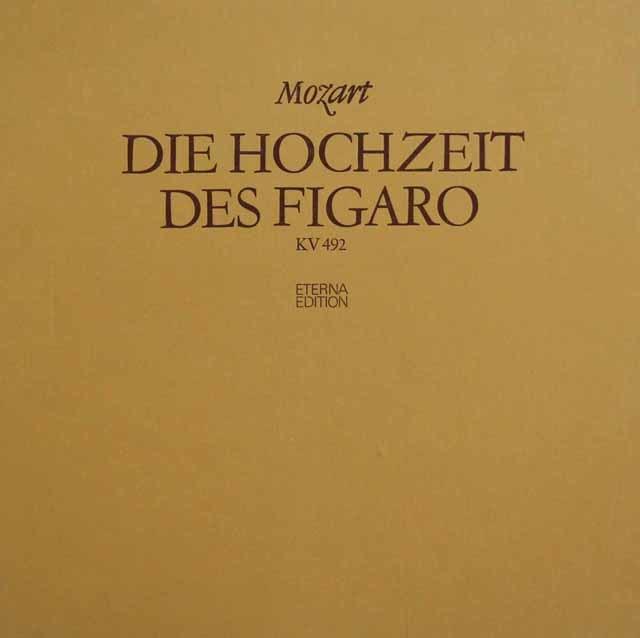 スウィトナーのモーツァルト/「フィガロの結婚」全曲  独ETERNA 3141 LP レコード
