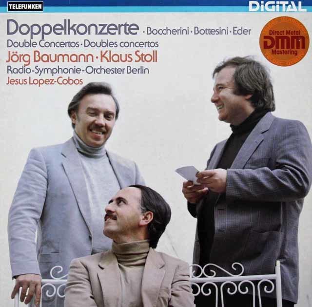 バウマン、シュトール、ロペス=コボスのボッテジーニ/チェロとコントラバス、管弦楽のための協奏曲ほか 独TELEFUNKEN 3142 LP レコード