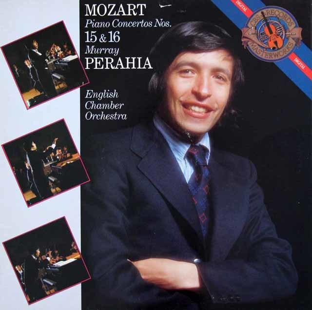 ペライアのモーツァルト/ピアノ協奏曲第15、16番 蘭CBS 3142 LP レコード