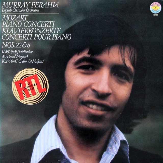 ペライアのモーツァルト/ピアノ協奏曲第22、8番 独CBS 3142 LP レコード