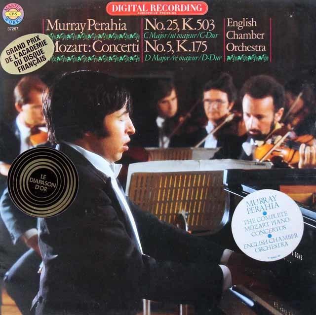 ペライアのモーツァルト/ピアノ協奏曲第25、5番 独CBS 3142 LP レコード