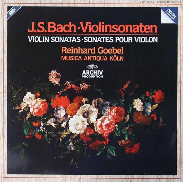 ゲーベル&ムジカ・アンティクヮ・ケルンのバッハ/ヴァイオリンソナタ集 独ARCHIV 3142 LP レコード