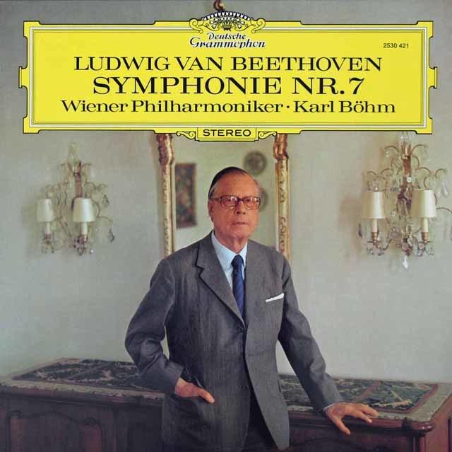 ベームのベートーヴェン/交響曲第7番 独DGG 3142 LP レコード