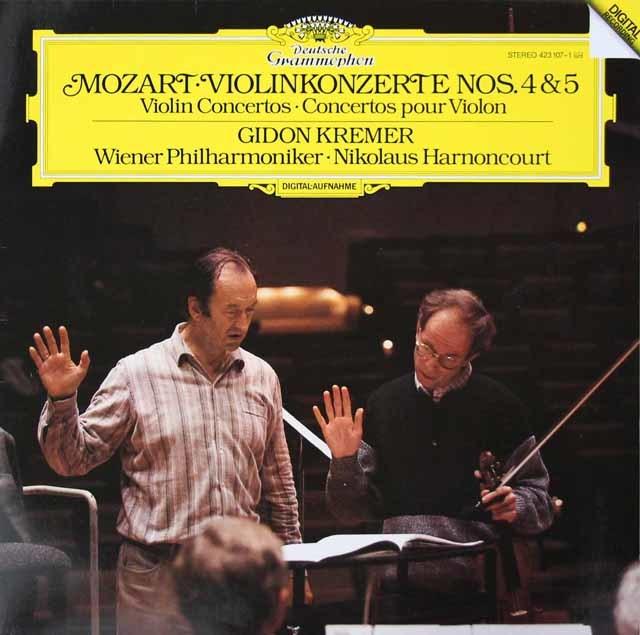 クレーメル&アーノンクールのモーツァルト/ヴァイオリン協奏曲第4&5番 独DGG 3142 LP レコード