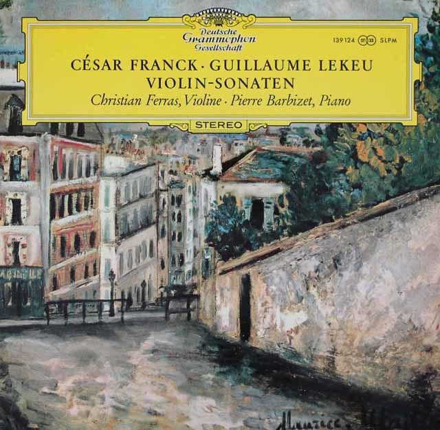 フェラス&バルビゼのフランク/ヴァイオリンソナタほか 独DGG 3142 LP レコード
