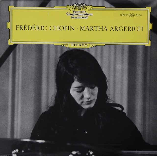 【オリジナル盤】 アルゲリッチのショパン/ピアノソナタ第3番ほか 独DGG 3142 LP レコード