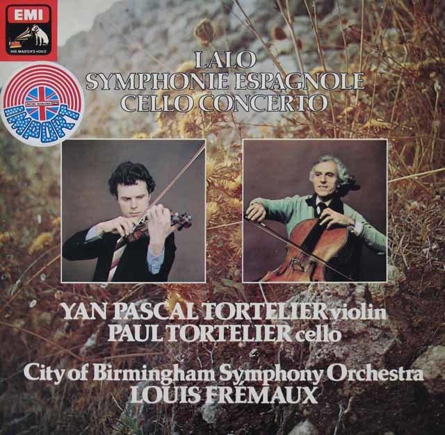 【オリジナル盤】 トルトゥリエ父子&フレモーのラロ/スペイン交響曲&チェロ協奏曲 英EMI 3142 LP レコード