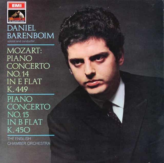 バレンボイムのモーツァルト/ピアノ協奏曲第14&15番 英EMI 3142 LP レコード
