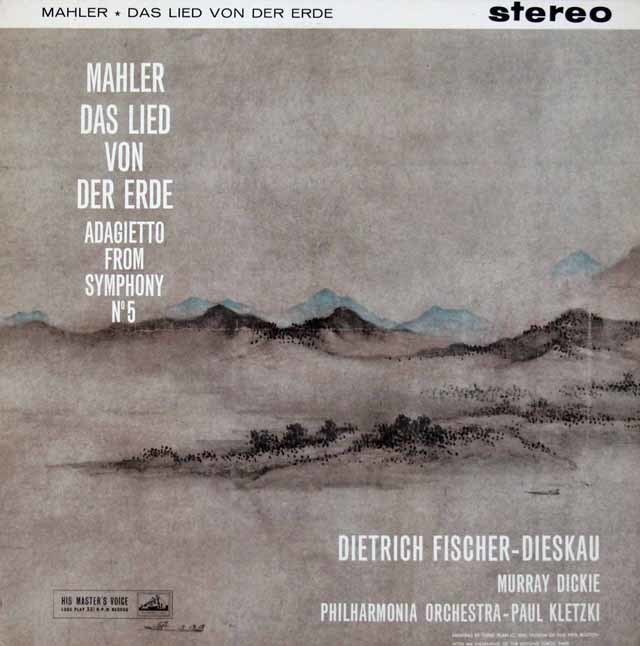 【オリジナル盤】  F=ディースカウ&クレツキらのマーラー/「大地の歌」ほか 英EMI(HMV) 3142 LP レコード
