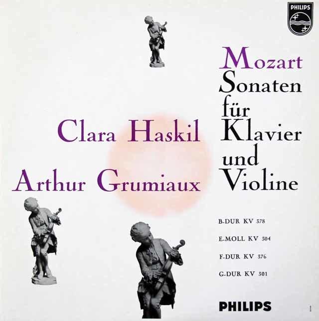 グリュミオー&ハスキルのモーツァルト/ヴァイオリンソナタ集 蘭PHILIPS 3142 LP レコード