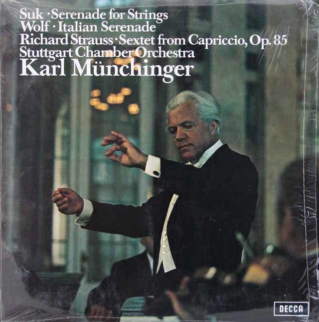 【オリジナル盤】 ミュンヒンガーのヴォルフ/「イタリアのセレナーデ」ほか  英DECCA 3142 LP レコード