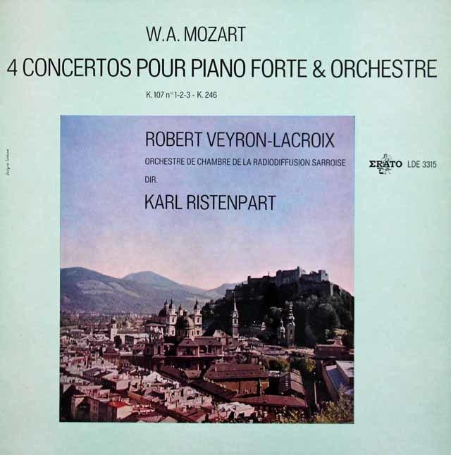 ラクロワ&リステンパルトのモーツァルト/ピアノ協奏曲 仏ERATO 3142 LP レコード